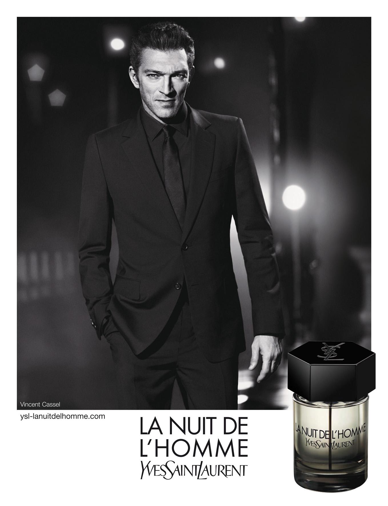 Affiche parfum homme Yves Saint Laurent La Nuit de l'Homme