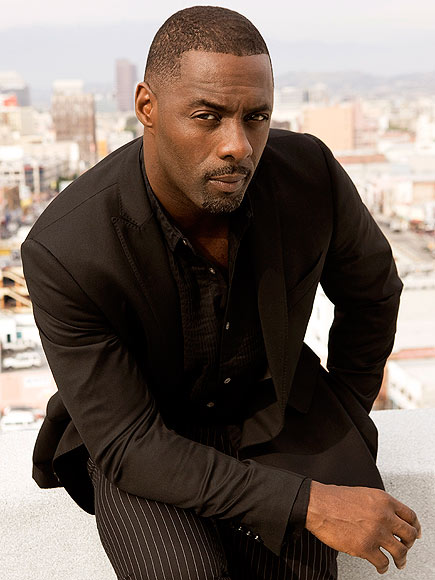 Idris Elba All-Black Suit