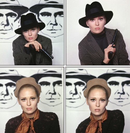 Faye Dunaway par Milton H Greene - Bonnie and Clyde
