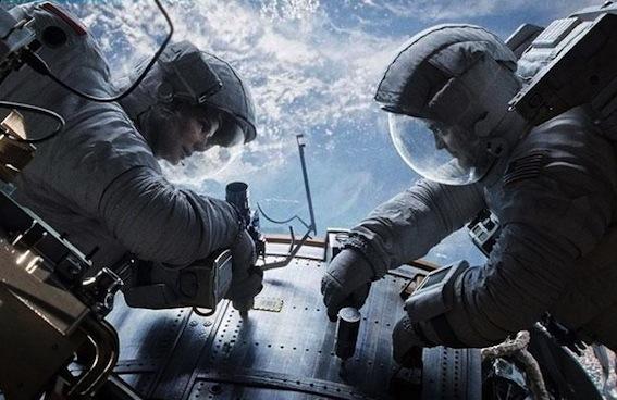 Gravity Sandra Bullock et George Clooney