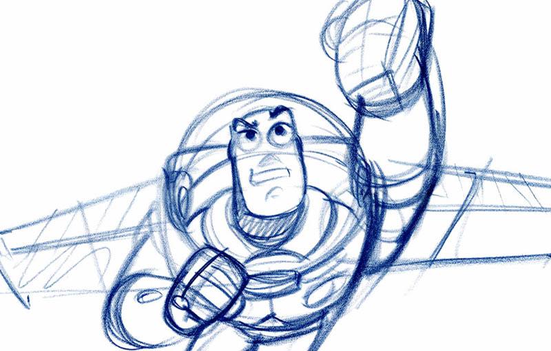 L 39 expo pixar 25 ans d 39 animation inaugure le mus e art - Coloriage pixar ...