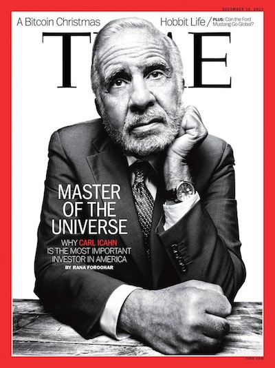 Carl Icahn - Time Magazine dec 2013