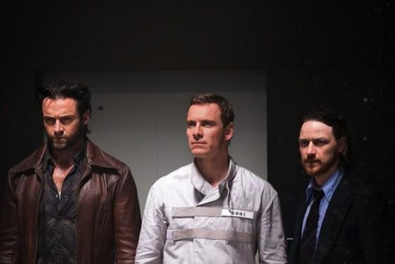 Hugh Jackman, Michael Fassbender etJames McAvoy dans XMen Days of Future Past de Bryan Singer / 20th Century Fox