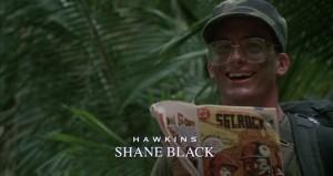 Shane Black (Hawkins) dans Predator de John McTiernan (1987)
