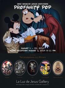 Profanity Pop - Affiche expo à la Galerie La Luz de Jesus