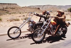 Peter Fonda et Dennis Hopper dans Easy Rider
