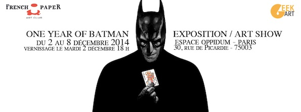 Expo One Year of Batman - Galerie Oppidum - banniere Art par Gabz