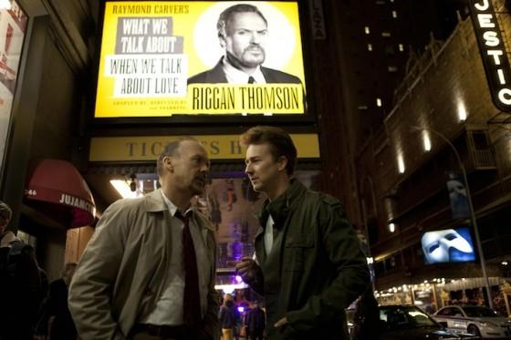 Michael Keaton et Edward Norton dans Birdman de Alejandro Gonzales Inaritu