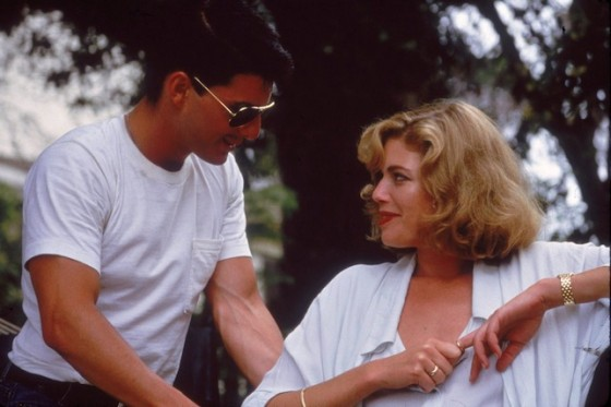 Tom Cruise et Kelly McGillis dans Top Gun de Tony Scott