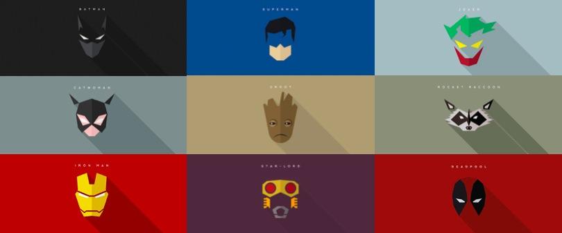 Bouquet de posters minimalistes 39 masks of superheroes for Art minimal livre