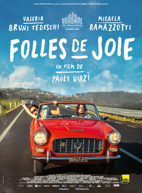 Folles de Joie de Paolo Virzi - affiche