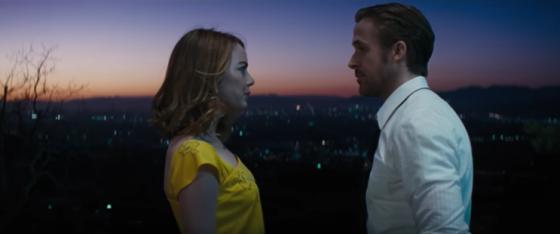 Emma Stone et Ryan Gosling dans La la land