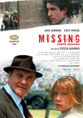 Missing Porte disparu de Costa-Gavras - affiche