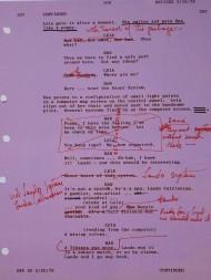 Carrie Fisher extrait scenario - script doctor