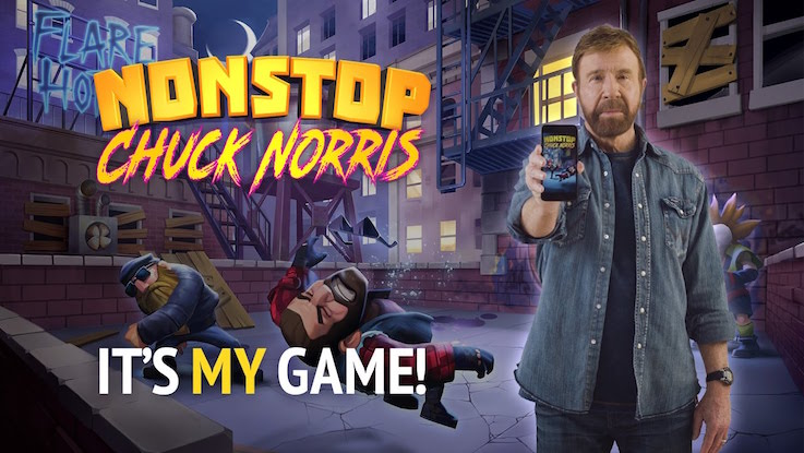 Nonstop Chuck Norris, téléchargeable gratuitement sur mobile