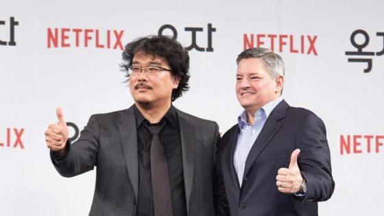 Bong Joon-ho et Ted Sarandos