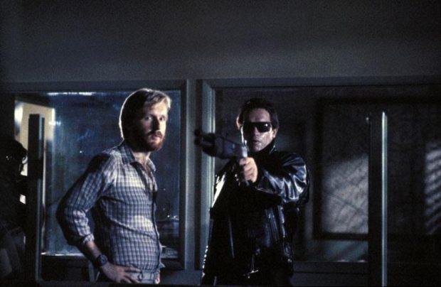 Terminator - James Cameron et Arnold Schwarzenegger sur le tournage