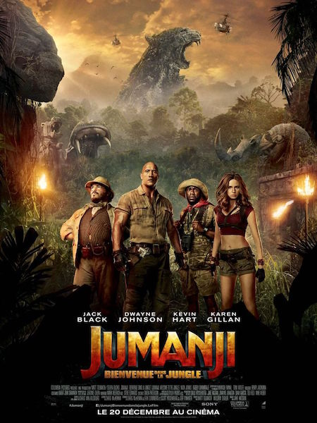 Jumanji bienvenue dans la jungle - affiche