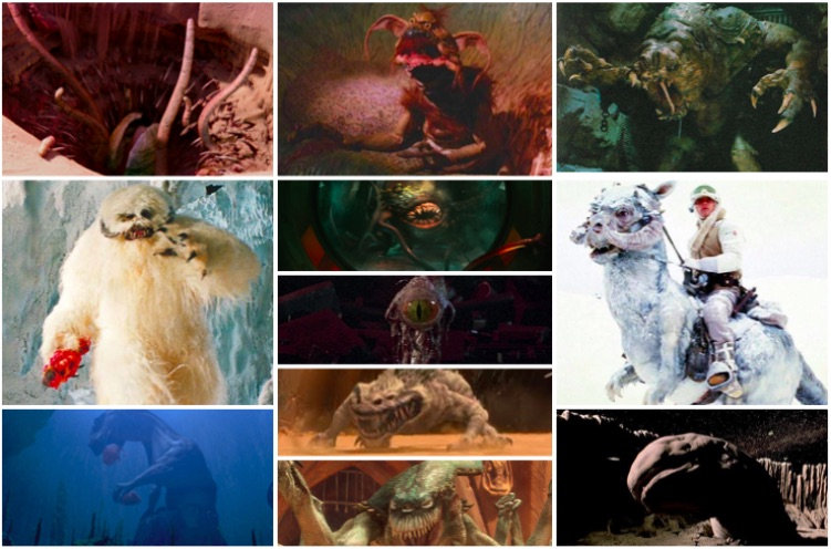 Top creatures saga Star Wars