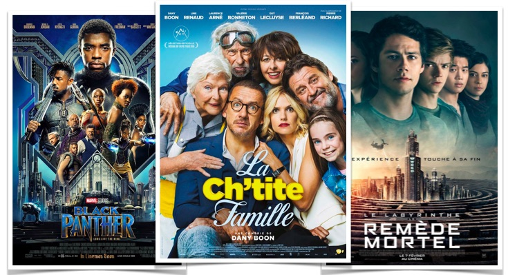 Box office la chtite famille black panther le labyrinthe remede mortel