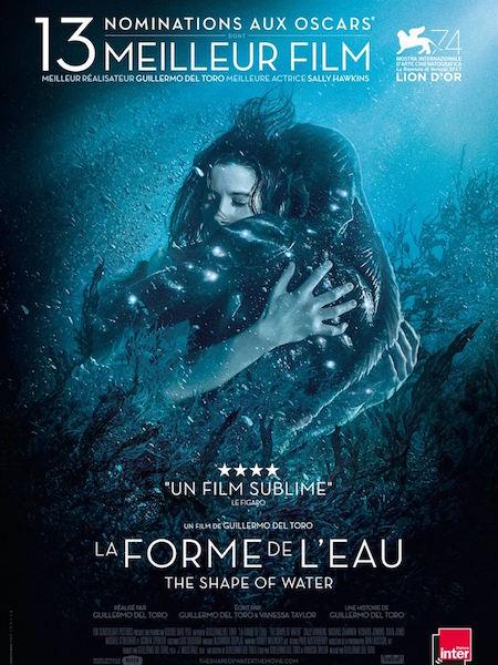 La forme de leau de Guillermo del Toro - affiche