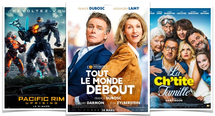 Top box office Tout le monde debout la chitite famille pacific rim uprising