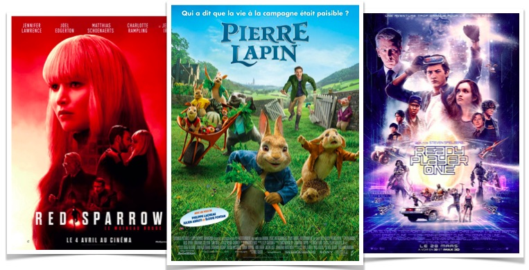 box office Pierre Lapin Ready Player One Red Sparrow