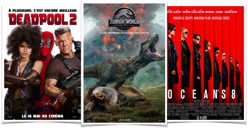 box office france Jurassic world fallen kingdom oceans 8 deadpool 2
