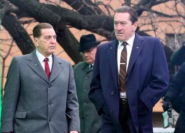 Al Pacino et Robert de Niro - tournage The Irishman