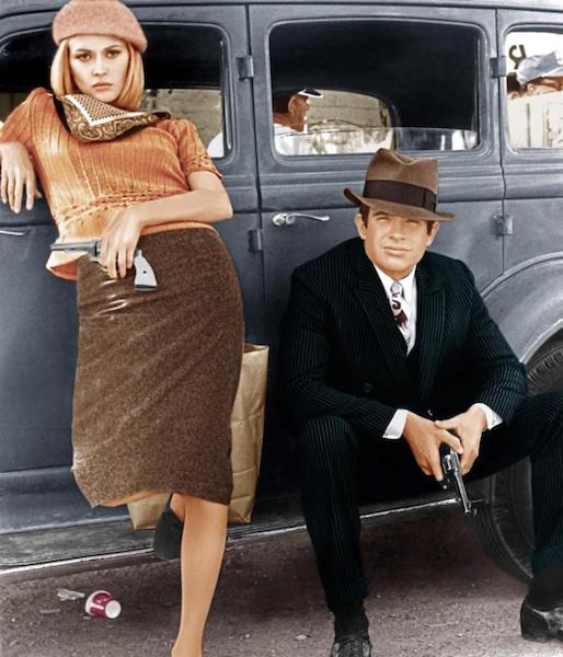 Faye Dunaway et Warren Beatty - Bonnie and Clyde de Arthur Penn