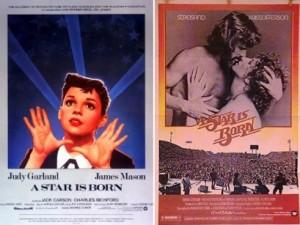 A star is born : version de 1954 avec Judy Garland / version 1976 avec Barbra Streisand
