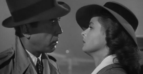 Humphrey Bogart et Ingrid Bergman dans Casablanca de Michael Curtiz (1942)