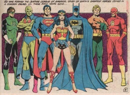 Les fondateurs de Justice League de DC Comics