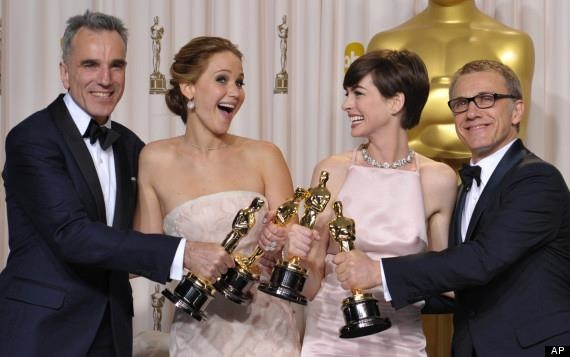 Daniel Day Lewis Jennifer Lawrence Anne Hathaway Christoph Waltz