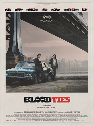 Blood Ties de Guillaume Canet affiche
