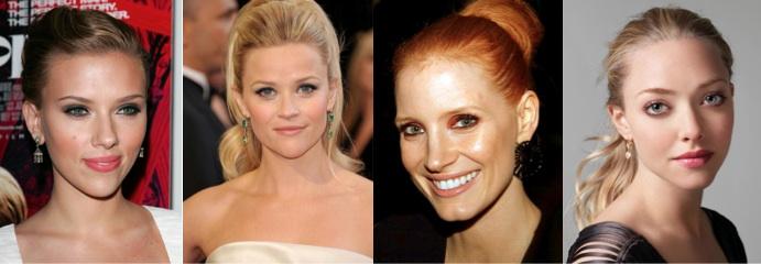 Scarlett Johansson Reese Witherspoon Jessica Chastain Amanda Seyfried