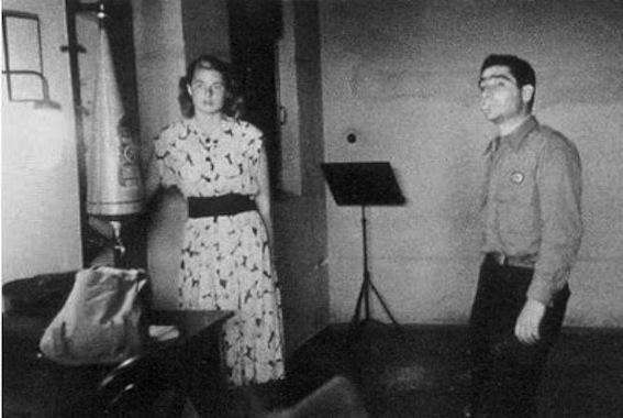 Robert Capa et Ingrid Bergman