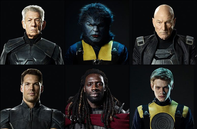 X-Men Days of Future Past Patrick Stewart, Ian McKellen, Daniel Cudmore, LucasTill, Nicholas Hoult, Omar Sy