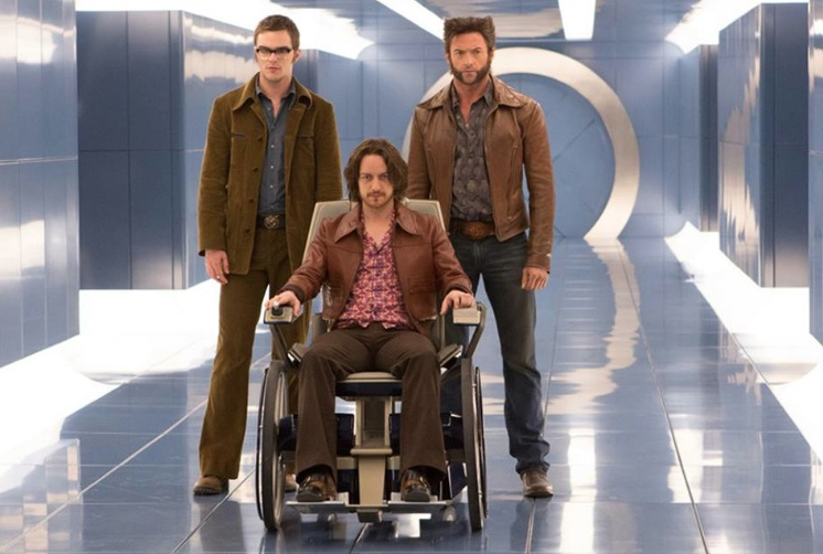 X-Men days of future past James McAvoy, Nicholas Hoult et Hugh Jackman