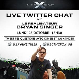 X-Men Days of Future Past - Twitter - Bryan Singer