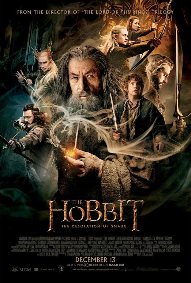 Le Hobbit- La desolation de Smaug affiche