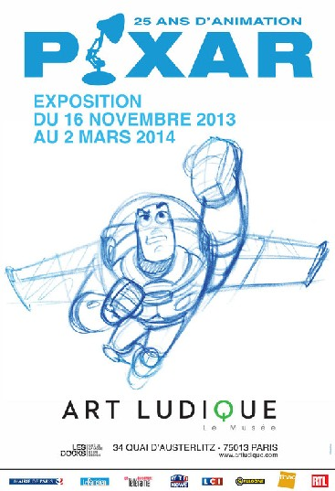 Pixar 25 ans d'animation affiche Art Ludique