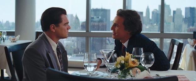 Le Loup de Wall Street Leonardo DiCaprio et Matthew McConaughey