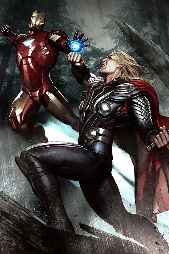 Iron Man-Thor Photo Credit Art Ludique -Le Musee