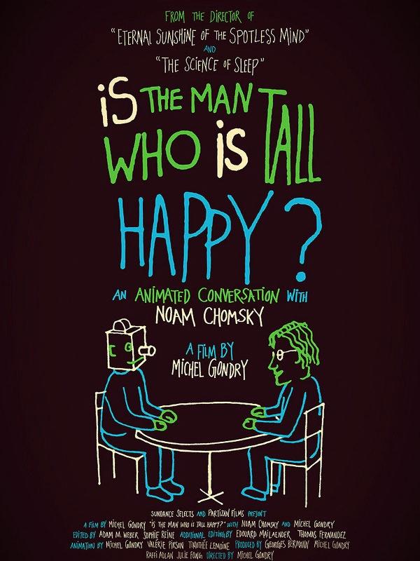 Conversation animee avec noam chomsky affiche