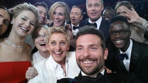 Selfie Oscars 2014 - Twitter Ellen DeGeneres