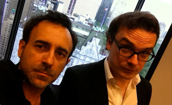 Selfie Philippe Roure et Philippe Guedj - Tournage Marvel Renaissance New York