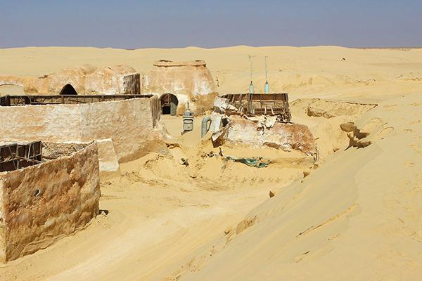 Decors de la planète Tatooine dans la saga Star Wars en Tunisie