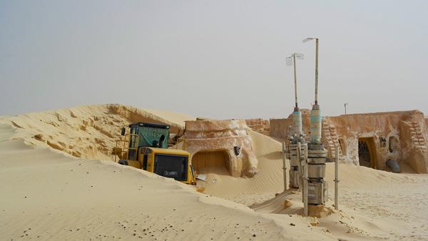 Decors de la planète Tatooine dans la saga Star Wars, situés en Tunisie
