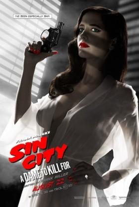 Poster du personnage de Eva Green dans Sin City 2 censuré par la MPAA